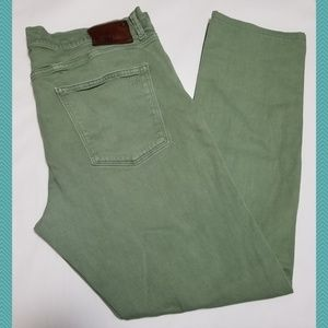 DL1961 Green Russell Classic Straight Leg Jeans